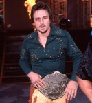 David Arquette as WCW World Heavyweight champion